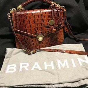 Brahmin Pecan Glassy Leather Bag